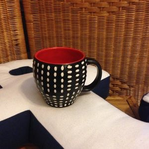 Starbucks bone China red interior coffee mug NWOT